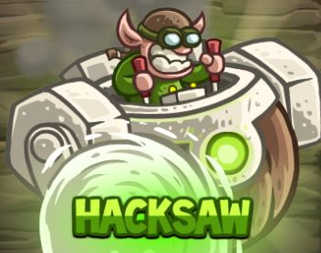 Hacksaw - новый герой Kingdom Rush